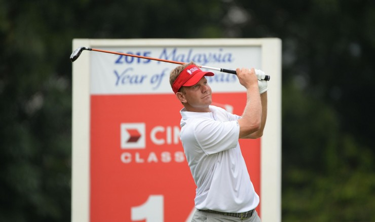 MALAYSIA, Kuala Lumpur :October 31, 2014 Billy Hurley III of USA in action during the second round  tournament of the US$7 million CIMB Classic at The Kuala Lumpur Golf and Country Club  in Kuala Lumpur. The event sanctioned by the Asian Tour and PGA TOUR .Pic By / ASIAN TOUR / KHALID REDZA