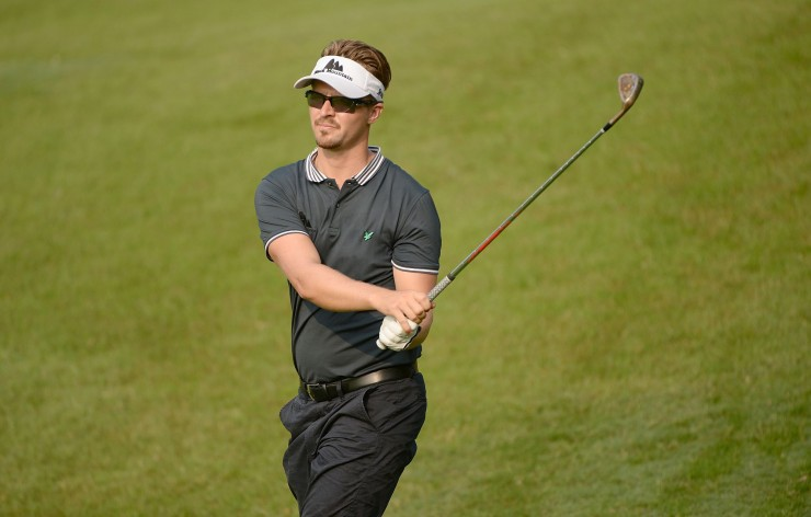 MALAYSIA, Kuala Lumpur :October 30, 2014 Rikard Karlberg of Sweden in action during the first round tournament of the US$7 million CIMB Classic at The Kuala Lumpur Golf and Country Club  in Kuala Lumpur. The event sanctioned by the Asian Tour and PGA TOUR .Pic By / ASIAN TOUR / KHALID REDZA