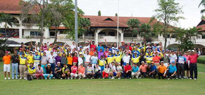 A group shot of the top amateur golfers in the country competing in the 2014 Golf Malaysia 'Champion of Champions' Championship at KGSAAS.