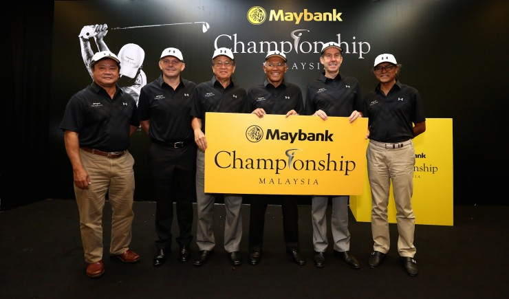 Mr.Kyi Hla Han, Chairman, Asian Tour, Mr Mike Kerr, Chief Executive Officer, Asian Tour, Yang Berbahagia Tan Sri Yong Poh Kon, President of RSGC, Yang Berbahagia Tan Sri Dato' Megat Zaharuddin Megat Mohd Nor, Chairman of Maybank, Mr. Keith Waters, Chief Operating Officer, European Tour and Yang Berbahagia Tan Sri Razali Rahman, Chairman, Globalone