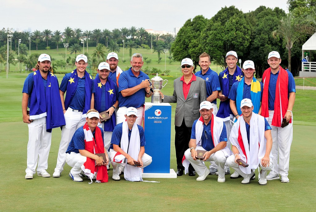 TEAM EUROPE WITH THE EURASIA TROPHY