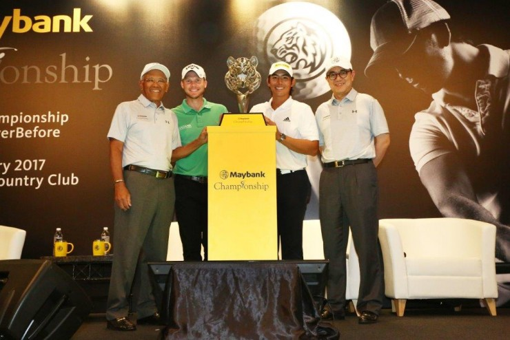 Tan Sri Dato' Megat Zaharuddin Megat Mohd Nor (Chairman, Maybank), Danny Willett, Gavin Green with Datuk Abdul Farid Alias (Group President and CEO, Maybank Group)
